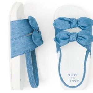 Janie and Jack chambray slide on sandals